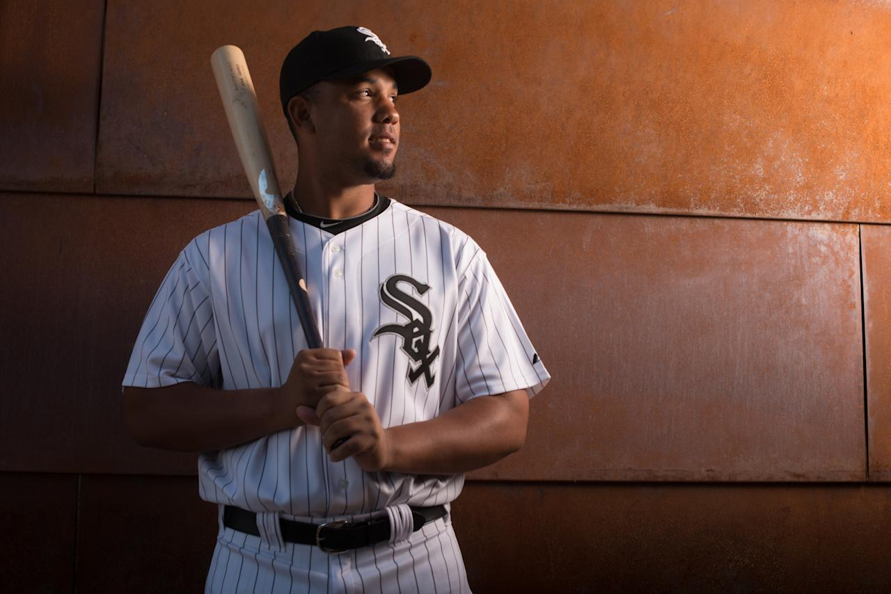 GLENDALE, AZ - FEBRUARY 22: Jose Abreu #79 of the Chicago White Sox poses for a portrait on photo day at the Glendale Sports Complex on February 22, 2014 in Glendale, Arizona. (Photo by Rob Tringali/Getty Images)