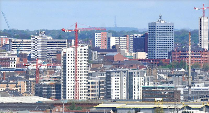 The Leeds skyline, dominated with high rise blocks and apartments as Bridgewater Place, the tallest building in the North at 32 storeys and 110 metres tall, joins the high rise boom in the City when it is officially opened today.