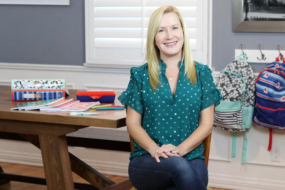 Angela Kinsey believes it's particularly important to show appreciation for teachers amid the coronavirus pandemic. (Photo: Courtesy of Staples)