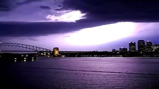 The SES received 173 calls overnight when severe storms lashed out in Sydney. Photo: 7 News