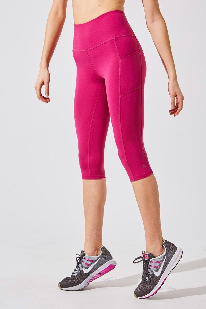 Step Up High Waisted Recycled Polyester Capri. Image via MPG Sport.