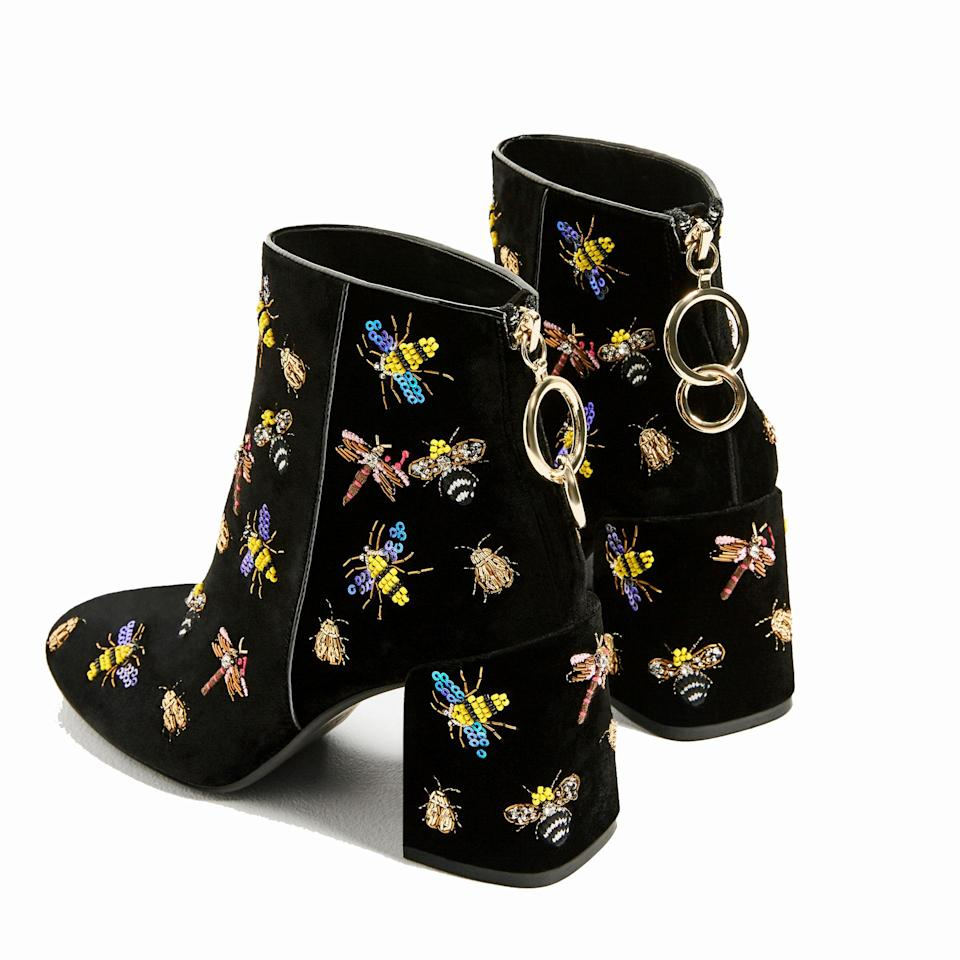 <p>Perfect as day- or eveningwear, these beaded boots will jazz up any outfit – and are unlike any other ankle boot you'll see on the high street this winter. </p>