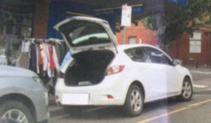 The council sent Ms Glavich a fine and a picture of her car with the boot open. Source: Facebook.