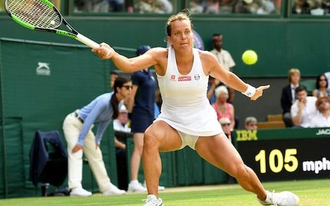 <span>Strycova has come out fighting in set two</span> <span>Credit: REX </span>