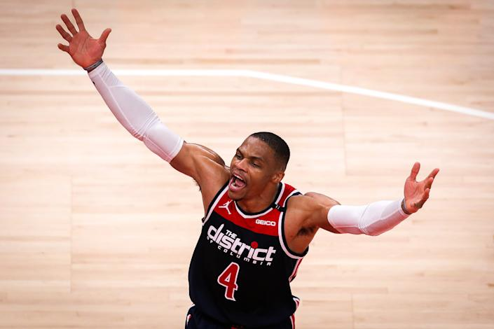 Russell Westbrook is the NBA's new Mr. Triple-Double. (Casey Sykes/Getty Images)