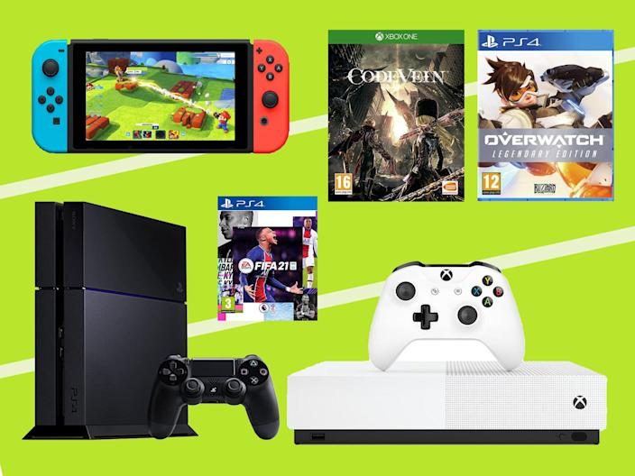 We'll be bringing you the biggest discounts across consoles, controllers, games and bundles throughout the sale (The Independent )