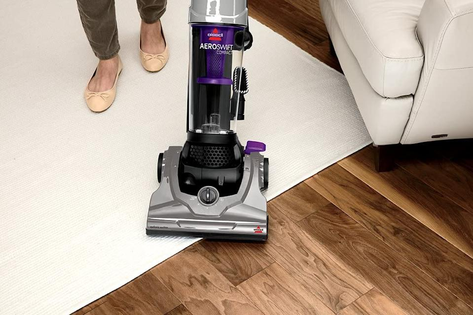 The Bissell AeroSwift Compact Upright Vacuum is on sale now through Amazon Canada.