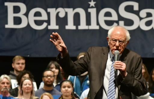 Democratic presidential hopeful Senator Bernie Sanders addresses a rally in downtown St. Louis, Missouri on March 9, 2020
