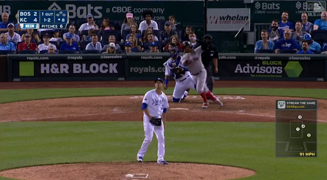 Hanley Ramirez executed a textbook bat flip on a bloop single. (MLB.com)