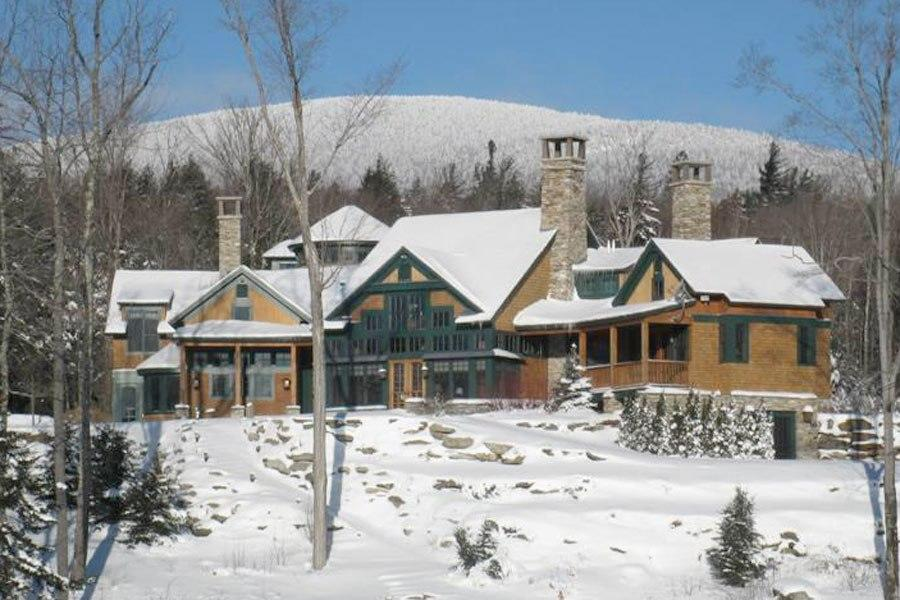 "<b><a href=""http://homes.yahoo.com/search/Vermont/Stratton/homes-for-sale"" target=""_blank"">Stratton, Vermont</a> </b><br> <a href=""http://homes.yahoo.com/Vermont/Stratton/768-mountain-rd:ba49421241b73b293fb0acc6626f40a1"" target=""_blank"">768 Mountain Rd</a> <br> <p>Listing: $6.9 million<br> Home Details:<br> 12 bedrooms<br> 12 baths, 2 half baths<br> 7,400 square feet</p> <br> <p>Pedigree: Designed by local architect Jeffrey Barnes in 2004, this Adirondack-style estate of 160 acres is just a five-minute drive from the mountain. The main house features a classic post-and-beam construction, with a magnificent great room that has trestle logs rising up to tall vaulted ceilings.</p>"