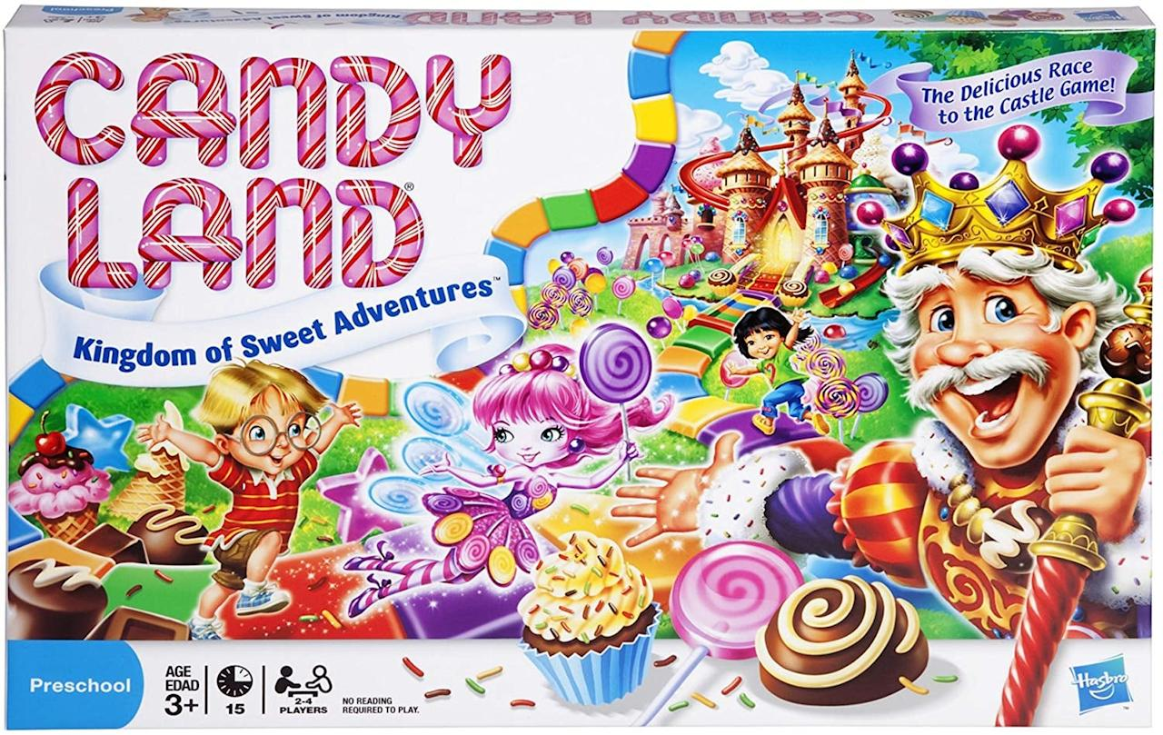 "<p>The sweetest game around, <a href=""https://www.popsugar.com/buy/Candy-Land-500187?p_name=Candy%20Land&retailer=amazon.com&pid=500187&price=13&evar1=moms%3Aus&evar9=46746880&evar98=https%3A%2F%2Fwww.popsugar.com%2Ffamily%2Fphoto-gallery%2F46746880%2Fimage%2F46747229%2FCandy-Land&list1=thanksgiving%2Ckid%20shopping%2Cfood%20and%20activities%2Ckid%20apps%20and%20games%2Cfamily%20life&prop13=api&pdata=1"" rel=""nofollow"" data-shoppable-link=""1"" target=""_blank"" class=""ga-track"" data-ga-category=""Related"" data-ga-label=""http://www.amazon.com/Hasbro-Gaming-Kingdom-Adventures-Exclusive/dp/B00000DMF5/"" data-ga-action=""In-Line Links"">Candy Land</a> ($13) is a beloved classic for good reason. The best board game for beginners, it is perfect for little ones who haven't yet begun reading - the colorful picture cards are all they need to get engrossed in the game. <em>Age 3+</em></p>"