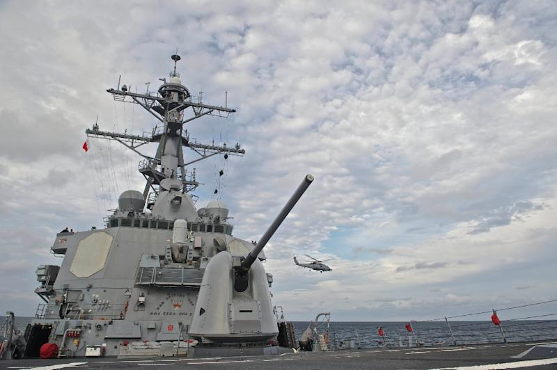 The sailor went missing during a joint US-Japanese drill in the South China Sea
