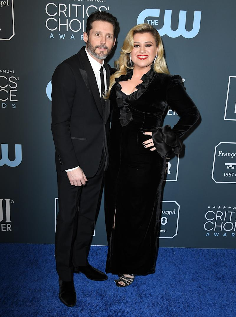 Brandon Blackstock and Kelly Clarkson arrives at the 25th Annual Critics' Choice Awards at Barker Hangar on January 12, 2020 in Santa Monica, California. (Photo by Steve Granitz/WireImage)