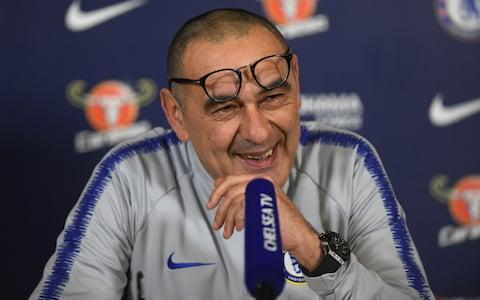 A shaved Sarri does not bode well for Chelsea's form, apparently - Credit: CHELSEA FC