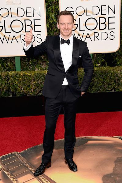 Michael Fassbender in Tom Ford at the 73rd Golden Globe Awards.