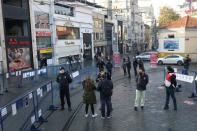 Nation-wide weekend curfew which was imposed to prevent the spread of the coronavirus disease (COVID-19), in Istanbul