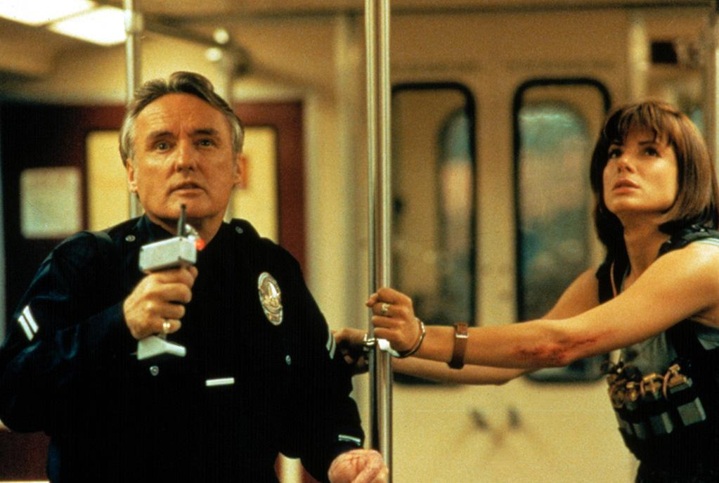 "<a href=""http://movies.yahoo.com/movie/1800212379/info"">SPEED</a> (1994)   In a film not generally remembered for its acting, Hopper was praised by critics for his turn as a mad bomber who strikes terror in the LA public transit system. As Janet Maslin of the New York Times wrote, ""Mr. Hopper finds nice new ways to convey crazy menace with each new role. Certainly he's the most colorful figure in a film that wastes no time on character development or personality."""