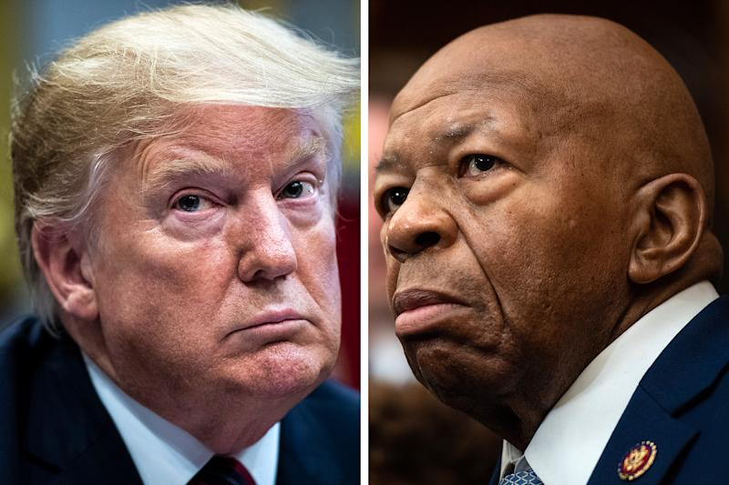 Donald Trump and Elijah Cummings