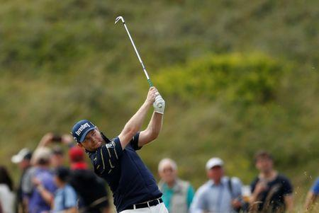 Golf - The 146th Open Championship - Royal Birkdale - Southport, Britain - July 22, 2017 South Africa's Branden Grace plays his approach to the 18th hole during the third round REUTERS/Andrew Boyers