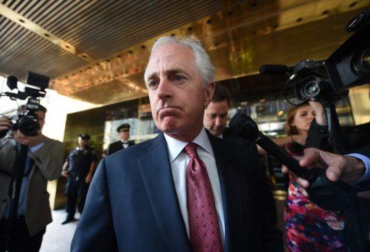 Sen. Bob Corker leaves Trump Tower last month after meeting with Donald Trump. (Photo: Timothy A. Clary/AFP/Getty Images)