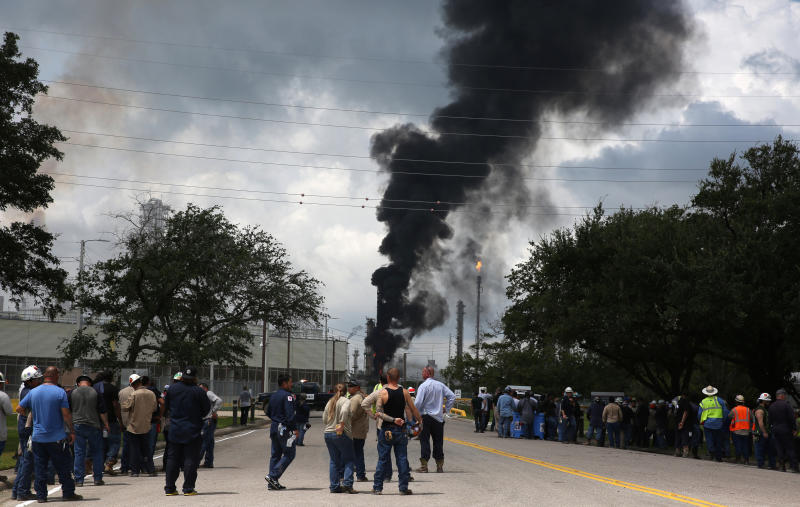 Texas Refinery Fire Response