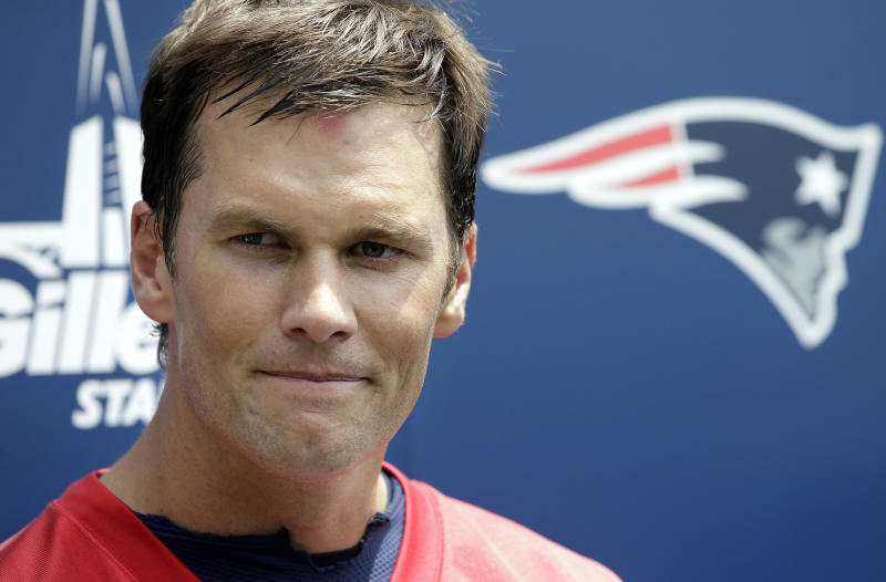 Tom Brady was named the NFL's best player in the NFL Network's annual countdown for the third time. (AP)