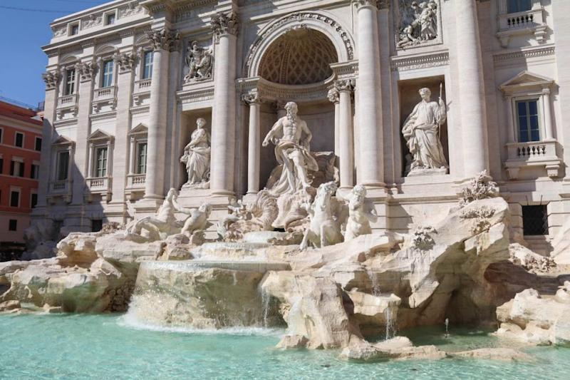 The Trevi Fountain is the largest baroque fountain in the city and was completed in 1762. Source: Holly O'Sullivan