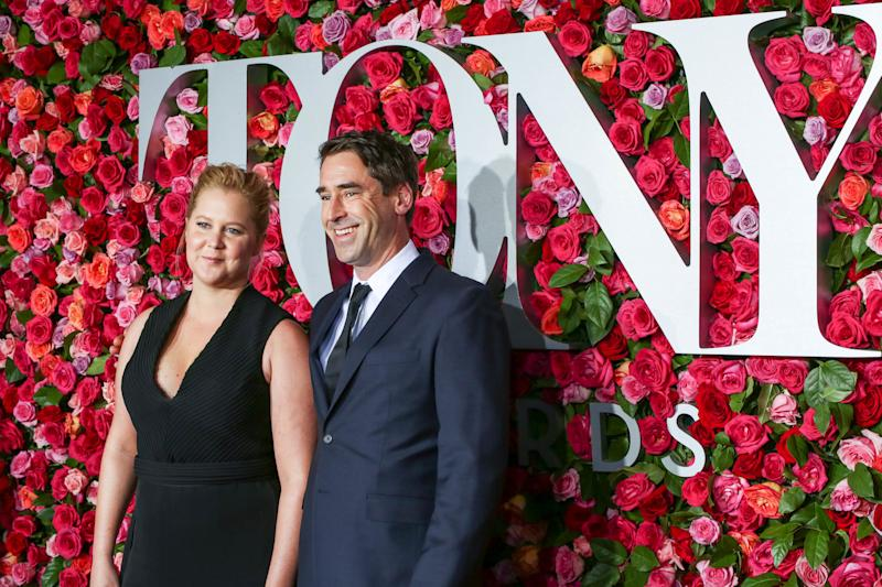 Amy Schumer and Chris Fischer attend the 72nd Annual Tony Awards at Radio City on June 10. (Walter McBride via Getty Images)