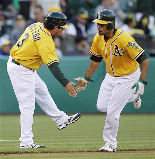 Crisp's game-ending sacrifice fly lifts A's