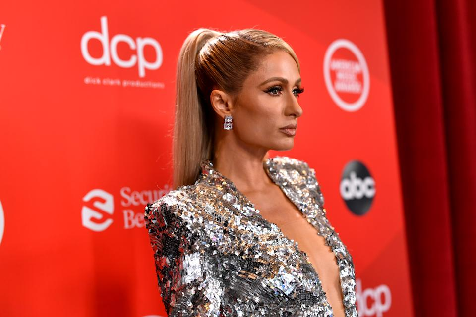 Paris Hilton attends the American Music Awards on November 22, 2020 in Los Angeles, California. (Photo by Emma McIntyre /AMA2020/Getty Images for dcp)