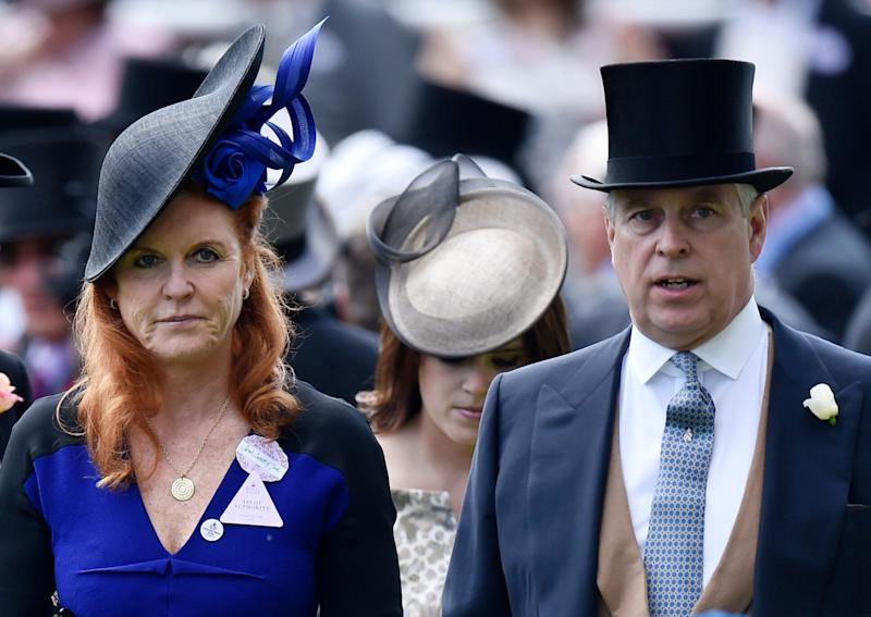 Sarah Ferguson, Duchess of York and Prince Andrew, Duke of York attend the races at England's Ascot Racecourse on June 19, 2015. (Photo: Reuters Staff / Reuters)