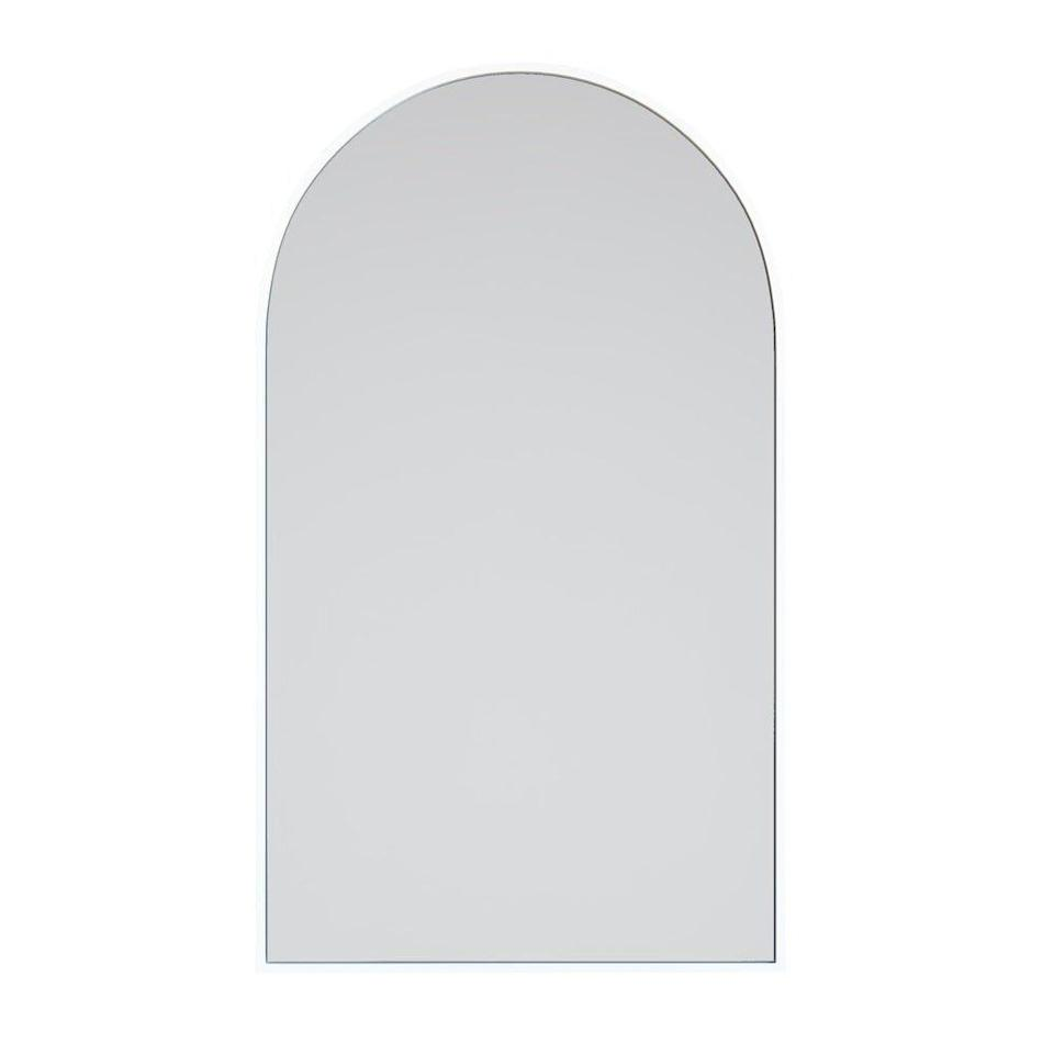 Arch Mirror with White Frame