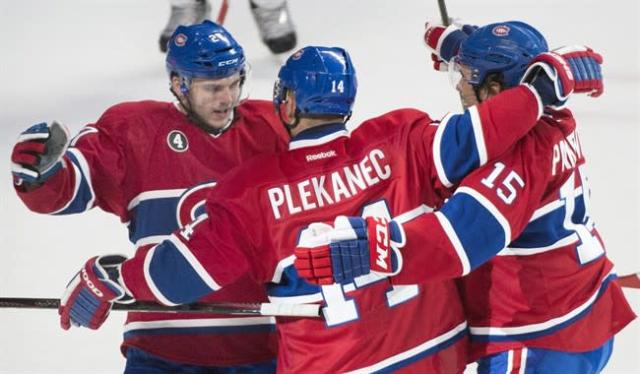 The Montreal Canadiens carried the ball for Hockey Night In Canada on Saturday -- something they may do all spring. THE CANADIAN PRESS/Graham Hughes