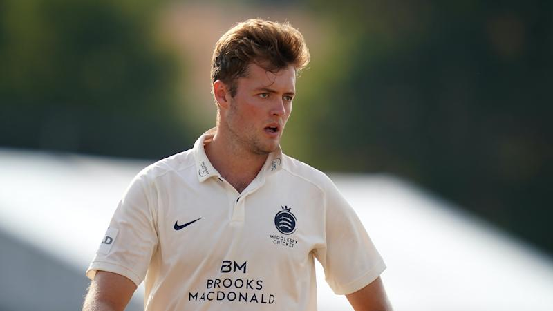 Tom Helm holds his nerve to earn a tie for Middlesex against Kent