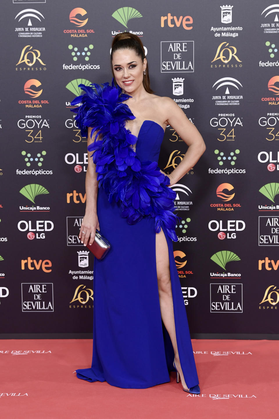 MALAGA, SPAIN - JANUARY 25: Eva Marciel attends the Goya Cinema Awards 2020 during the 34th edition of the Goya Cinema Awards at Jose Maria Martin Carpena Sports Palace on January 25, 2020 in Malaga, Spain. (Photo by Carlos Alvarez/Getty Images)