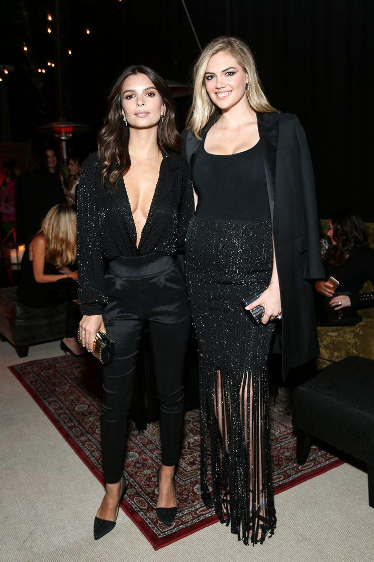 Emily Ratajkowski and Kate Upton Are Matching in Black