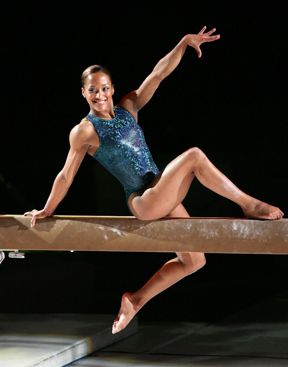 Annia Hatch during TJ Maxx Tour of Gymnastics Champions - October 13, 2004 at Kemper Arena in Kansas City, Missouri, United States. ***Exclusive*** (Photo by Jason Squires/Getty Images)