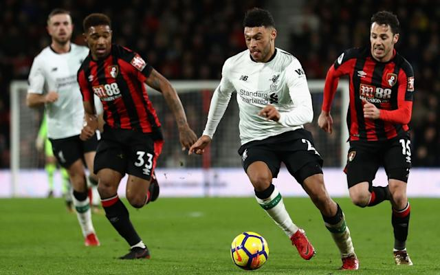 "Alex Oxlade-Chamberlain attempted to close down questions about Philippe Coutinho, complaining that it was not fair to ask the Brazilian about his future. Coutinho produced a masterly performance in Liverpool's 4-0 win against Bournemouth and, having pushed to leave for Barcelona earlier in the year, was asked about his intentions ahead of the January transfer window. ""I always say the same thing,"" said Coutinho. ""I try to enjoy the moment, I like to play football and every time I go inside the pitch I try my best so…"" Oxlade-Chamberlain then interjected. ""It's not fair to ask those kind of questions,"" he said. ""He gives us his all every game and that's all we can ask from him. Phil's a Liverpool player. He's been the most professional person I've seen all season. He's been top quality from the start and every time he gets on the pitch he does his all. That's the most important thing right now."" Liverpool manager Jurgen Klopp was similarly unwilling to expand on any transfer discussion, even though it is now just two weeks until the window reopens. Coutinho was in fine form on Sunday Credit: PA Barcelona have already indicated that they will return for Coutinho next month after having a series of bids turned down last summer, peaking at almost £120 million. Coutinho eventually handed in a transfer request and is still understood to be very keen to join Barcelona, where he would effectively replace Neymar alongside Lionel Messi and Luis Suarez. ""All the transfer windows are important, whether you're forced to be busy or not,"" said Klopp, before suggesting that no club should depend on one player. He also would not single out any of his attacking players for particular praise after his front three, Coutinho, Mohamed Salah and Firmino, all scored. ""I don't like the Fab Four thing,"" said Klopp."