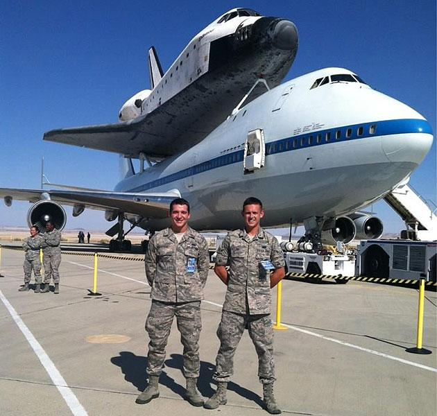 Kelly Day's son at Edwards AFB. Courtesy @IBKelly