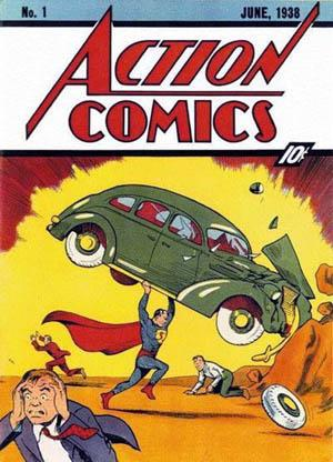 Action Comics No. 1, featuring Superman (Wikipedia/Joe Shuster)