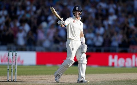 Joe Denly of England celebrates after reaching his half century during day three of the 3rd Specsavers Ashes Test match between England and Australia at Headingley on August 24, 2019 in Leeds, England - Credit:  Getty Images
