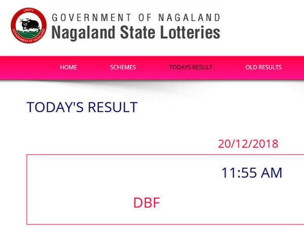 Nagaland Lotteries today results LIVE, check numbers