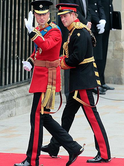 Prince William with his brother Prince Harry on his wedding day on April 29, 2011.