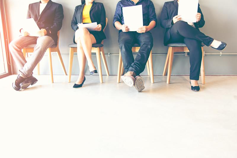 Group of people waiting for job interview
