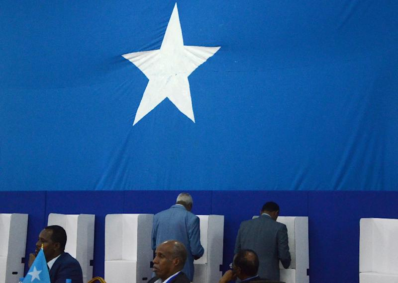 Somalia's drawn-out, indirect election has been criticised for encouraging alleged vote-buying among the limited numbers of lawmakers who were allowed to cast ballots (AFP Photo/Mustafa HAJIABDINUR)