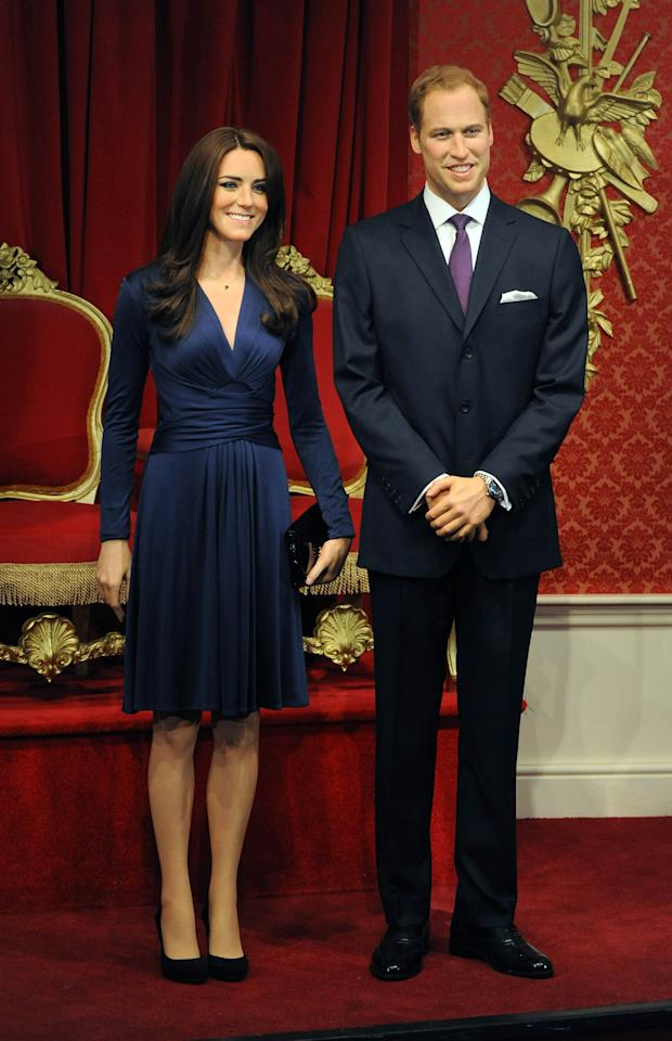 LONDON, UNITED KINGDOM - APRIL 04: New wax figures of Prince William, Duke of Cambridge and Catherine, Duchess of Cambridge are being revealed at Madame Tussauds on April 4, 2012 in London, England.  (Photo by Stuart Wilson/Getty Images)