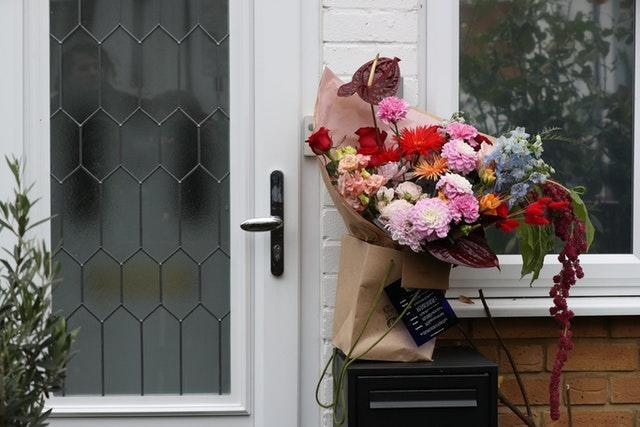Flowers delivered at the north London home of former Labour leader Jeremy Corbyn