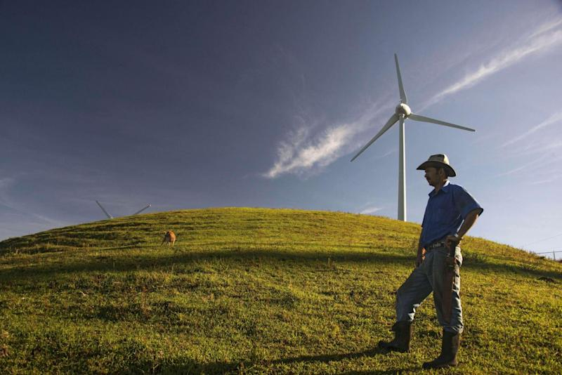 Wind power provides over 10 per cent of Costa Rica's electricity (AFP/Getty)
