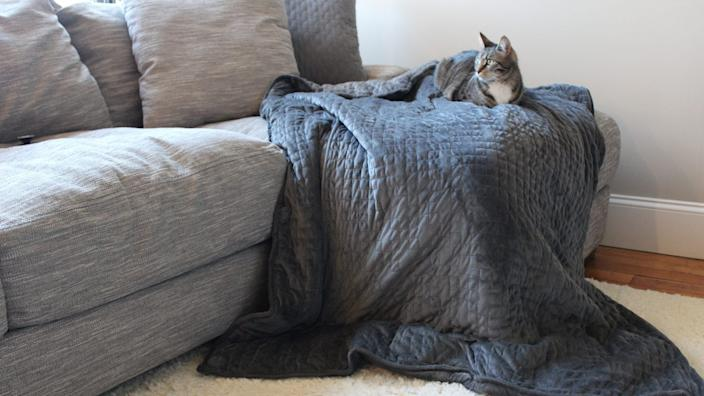 A good weighted blanket is the ultimate winter comfort item.