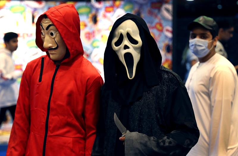 UNITED ARAB EMIRATES: In early March, cosplayers in masks attend the Middle East Comic-Con in Dubai.